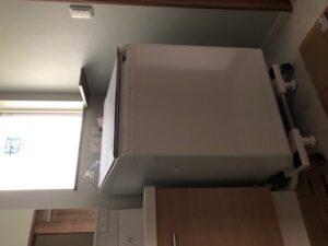 エコポイントで交換した洗濯機もキャスター付きの台にピッタリ!